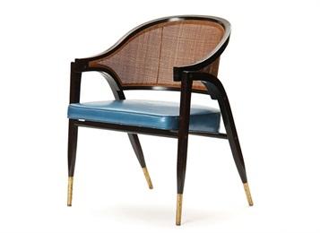 西餐厅优质实木靠背扶手餐厅软包藤编椅