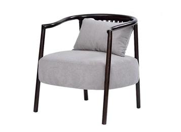西餐厅特色中式实木单人沙发椅
