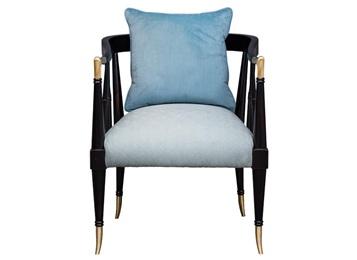 西欧西餐厅实木皮革软包靠背椅