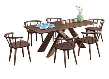 北欧全实木西餐桌