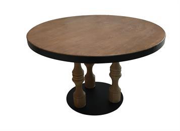 欧式复古实木做旧西餐桌