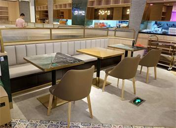 西餐厅简约现代方形不锈