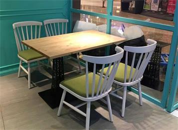 休闲简约餐厅实木方形西