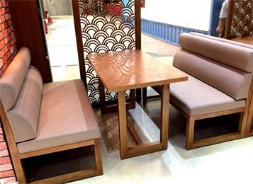 4人位实木桌椅咖啡厅实