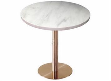 西餐厅不锈钢大理石餐桌_白色大理石餐桌
