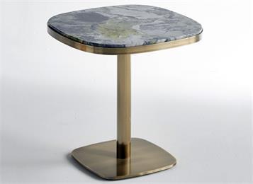 西餐厅钛金不锈刚极简餐桌