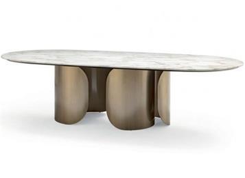 豪华西餐厅简约不锈钢长条西餐桌