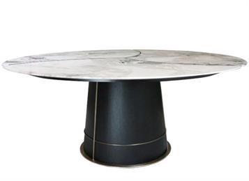 新中式轻奢不锈钢大理石西餐桌