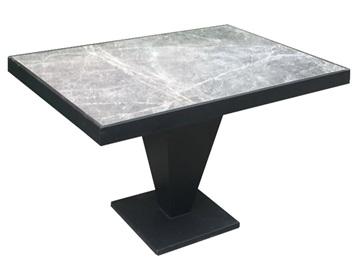 西餐厅铁艺包边大理石时尚桌子
