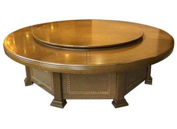 实木电动餐桌宴会酒楼餐桌大圆桌
