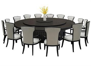 新中式宴会厅包厢电动餐桌