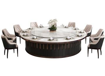酒店宴会厅不锈钢大理石餐桌