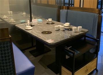 钢化玻璃火锅圆桌1.2米转