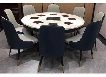 包房火锅桌子8人一人一锅火锅圆桌