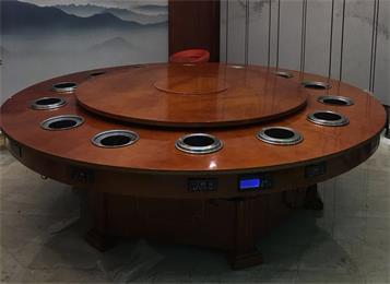 12人14人16人位无烟电磁炉小火锅电动桌子