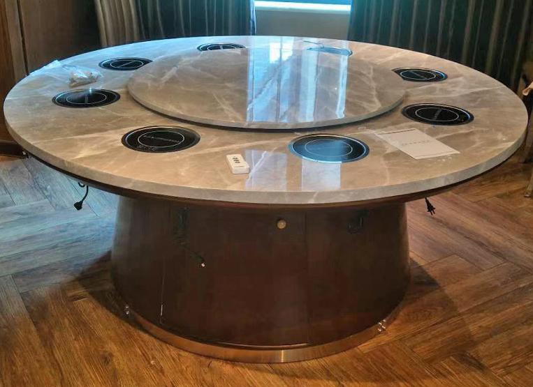 8人电磁炉一人一锅火锅圆桌