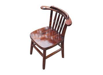 中式实木椅 碳化实木中餐厅椅子