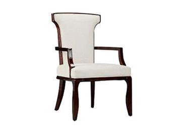 现代中式布艺高背扶手椅 新古典中餐厅酒店洽谈