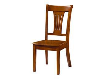 钱柜娱乐网站_中式原木色实木餐椅 现