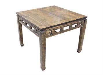 钱柜娱乐网站_中餐厅仿古雕花实木长方桌 八仙桌