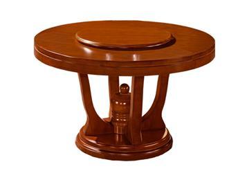 钱柜娱乐网站_现代中式实木餐桌 中式圆饭桌酒店圆餐台家具