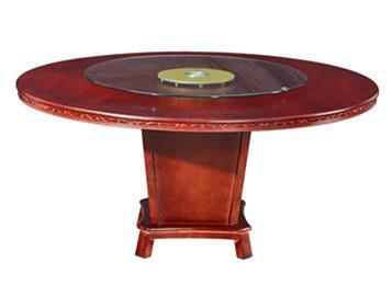 酒店圆形餐桌 聚会餐桌椅组合 餐厅包厢宴会厅中