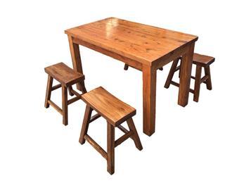 饭店餐馆复古榆木桌子