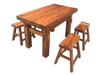 中餐厅老榆木餐桌餐椅
