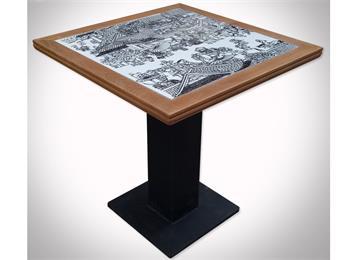 中国风古典青花瓷餐桌