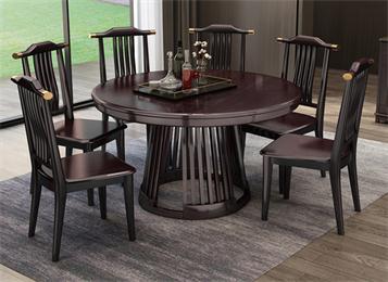 优质简约中餐厅实木桌椅组合