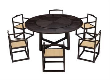 新中式实木水曲柳餐桌椅