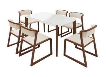 钱柜娱乐网站,钱柜娱乐官方网站_北欧餐桌椅组合 主题餐厅长方形6人餐桌