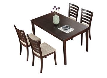 北欧实木餐桌餐椅组合