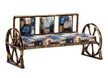 铁艺复古等候椅沙发椅