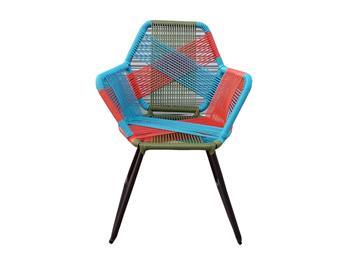 五颜六色户外藤编椅子