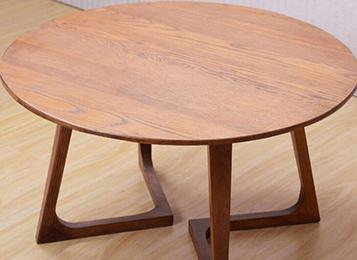 钱柜娱乐官方网站【首页】_北欧简约实木西餐桌  实木圆形餐桌