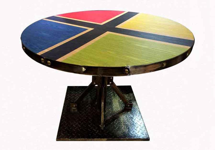美式复古LOFT工业风实木餐桌