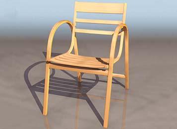 简约时尚主题餐厅实木餐椅