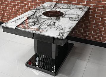 大理石台面电磁炉火锅桌