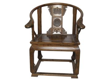 明清中式圈椅 皇冠古典太师椅休闲椅