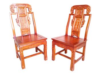 明清古典中式实木餐椅 实木仿古青冈木象头椅子
