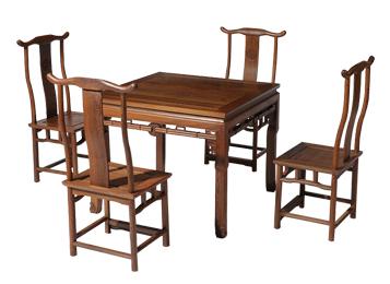 明清古典家具鸡翅木八仙桌实木仿古餐台