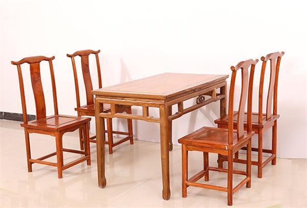 钱柜娱乐官方网站【首页】_古典中式餐桌椅组合 明清复古榆木餐桌椅组合