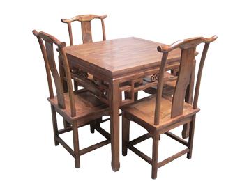 八仙桌实木榆木中式桌子 明清仿古家具