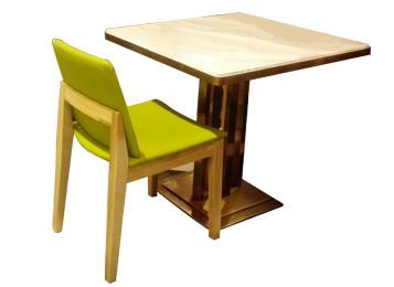 现代简约大理石台面主题餐厅餐桌椅