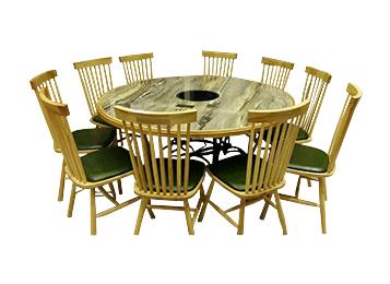 大理石电磁炉主题餐厅餐桌椅组合