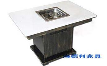东莞大理石火锅四人桌一套需要多少钱批发?