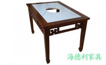 湖州批发自助电磁炉小火锅桌直销厂家--海德利家具