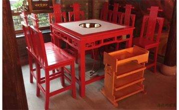 三亚订制火锅店电磁炉桌哪家好--海德利家具