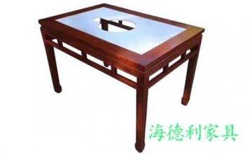 泰安订做电磁炉自助火锅桌厂家  --海德利家具